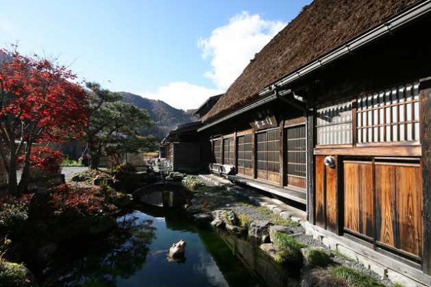 Japanese alpine town