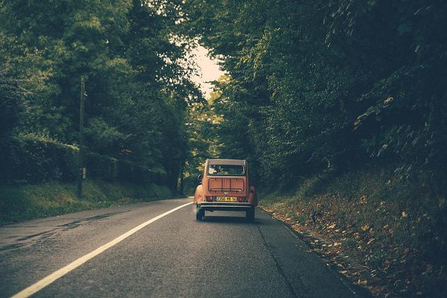 Car on quite road