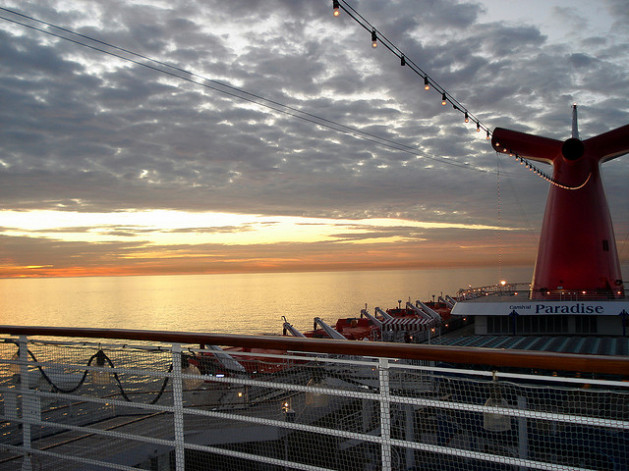 Cruise deck at sunset