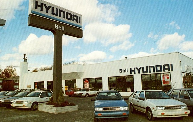 Bell Hyundai, Rahway, New Jersey, 1989