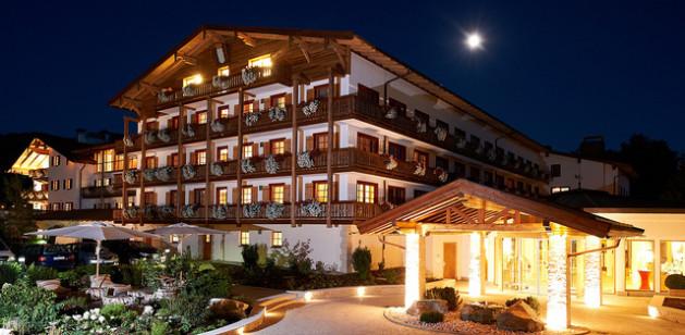 huge resort at night