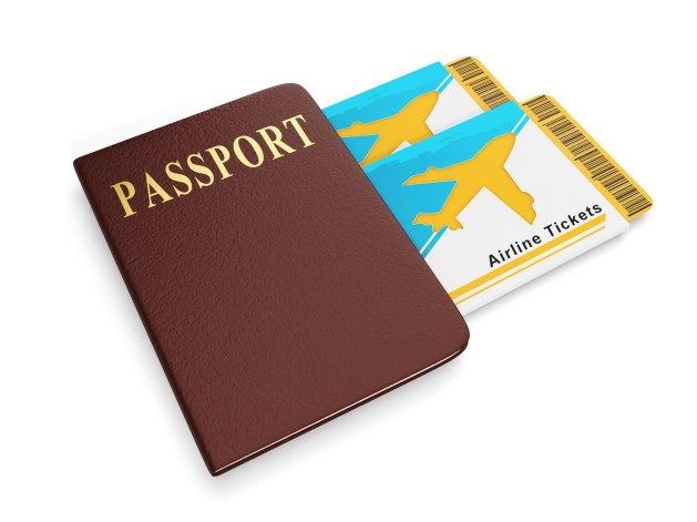 Image of passports and plane tickets