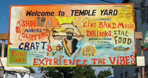 Sign for Temple Yard