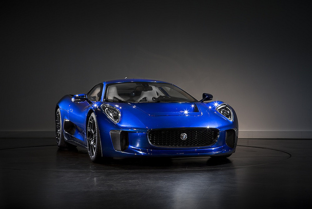 Jaguar C-X75 in blue