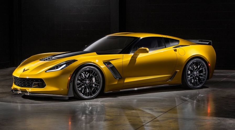 Yellow 2015 Chevrolet Corvette Z06