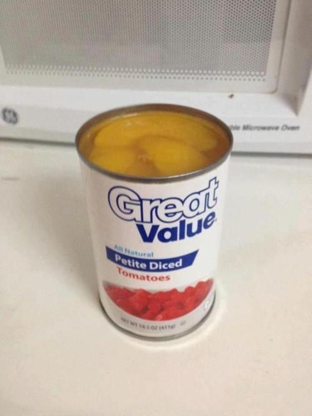 Peaches in tomato can