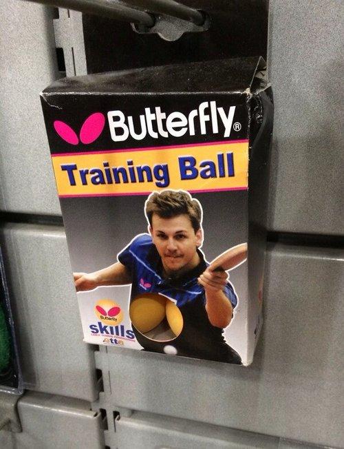 Ping pong ball boobs