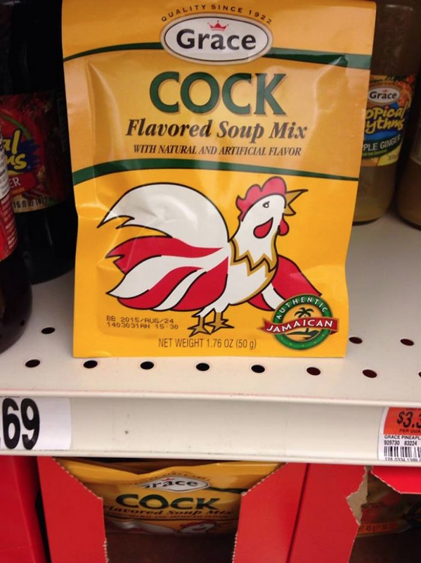 Cock flavored soup