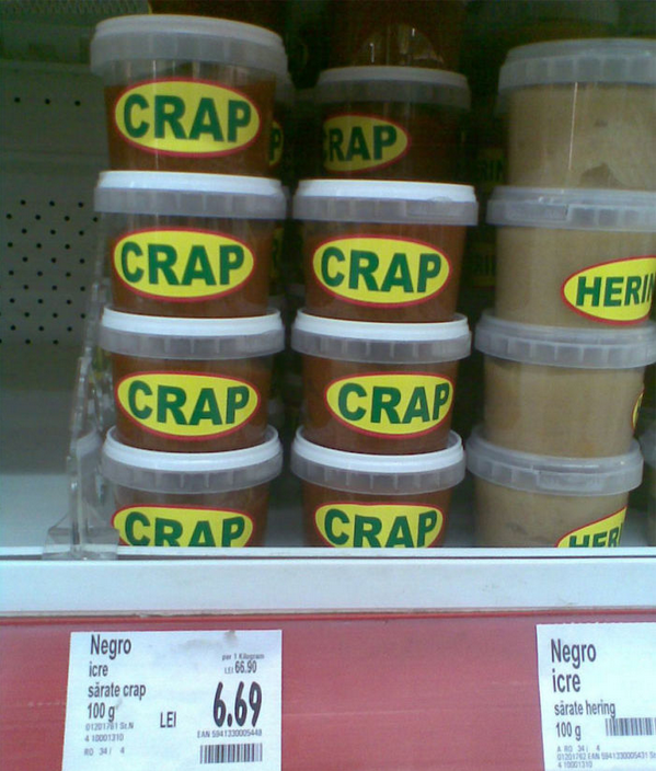 Crap in plastic container