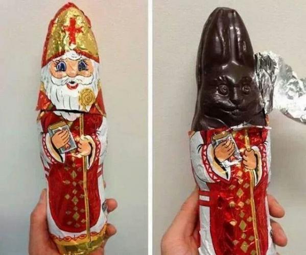 Christmas chocolate bunny