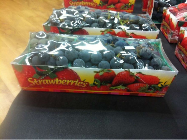 grapes in strawberry packaging