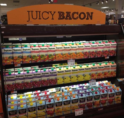 juicy bacon display