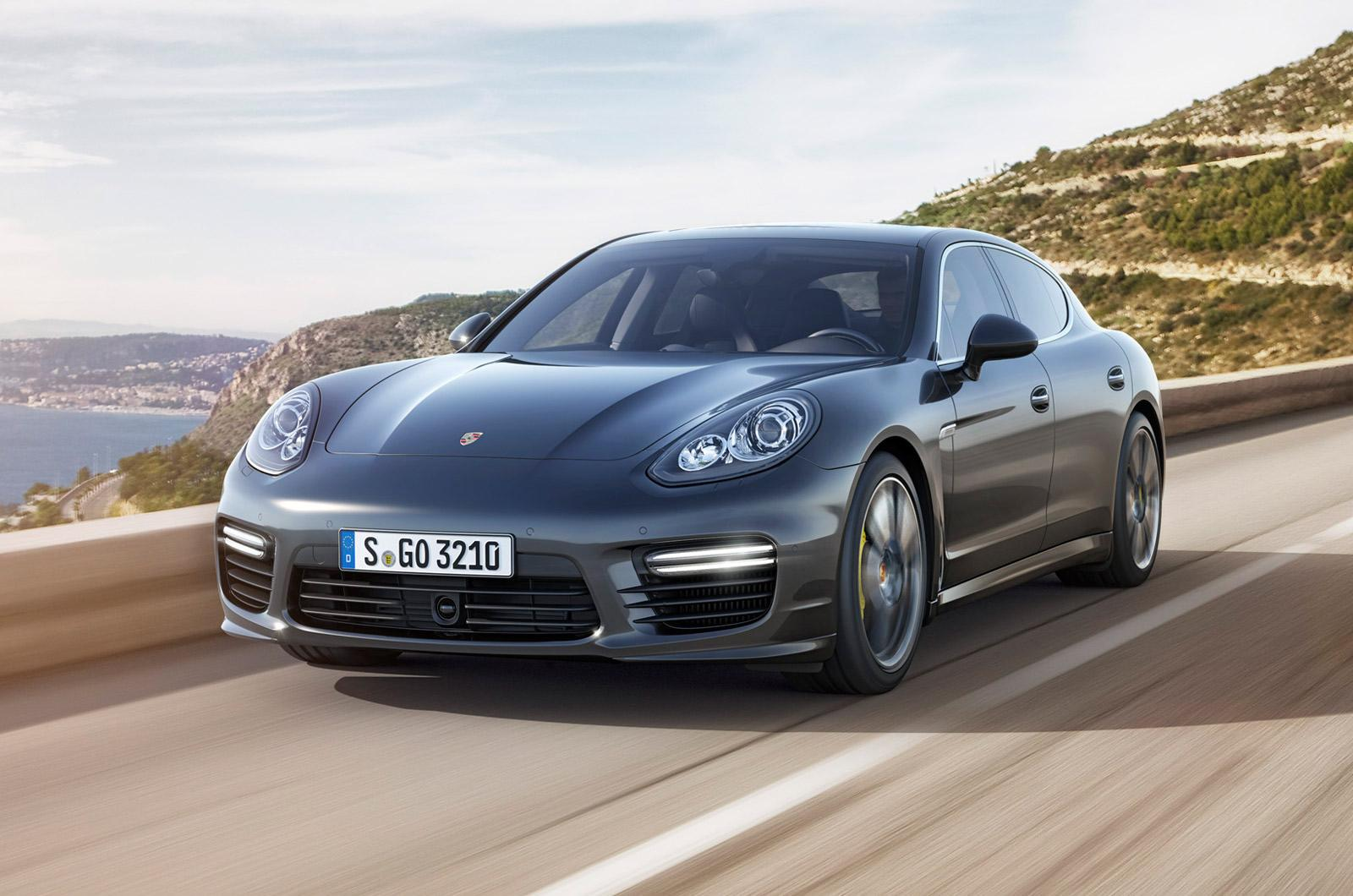 porsche panamera turbo in grey