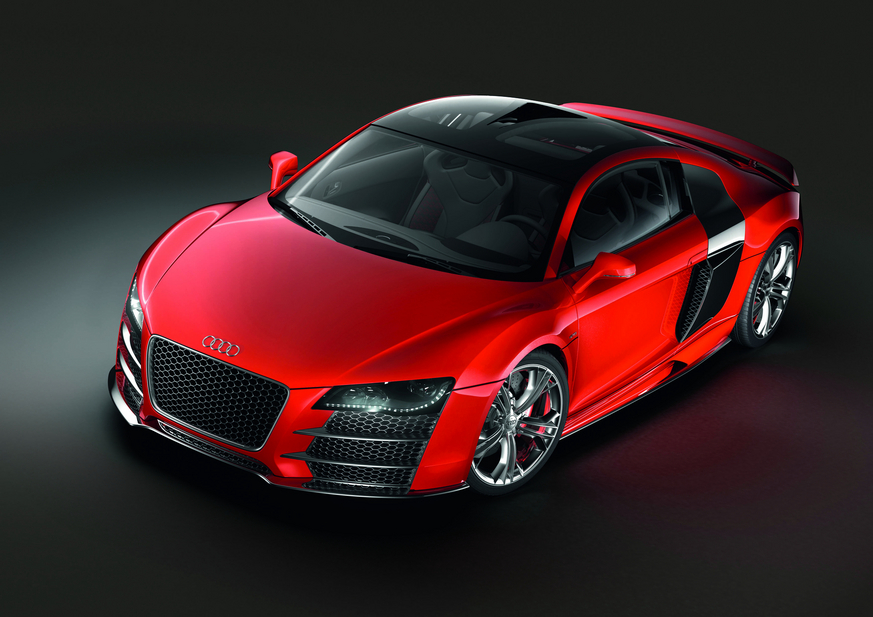 Audi's R8 Le Mans concept in red