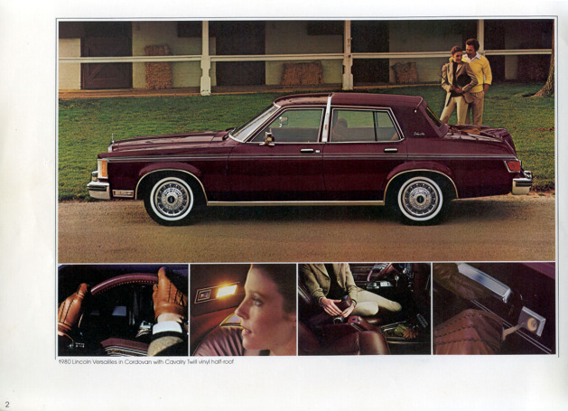 1980 Lincoln Versailles in red