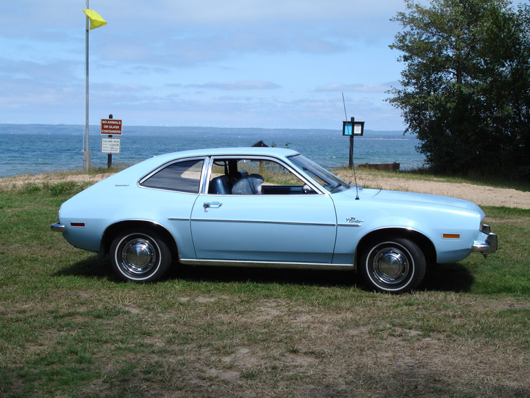 Light blue Ford Pinto