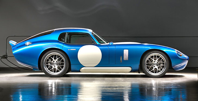 Renovo coupe blue with white