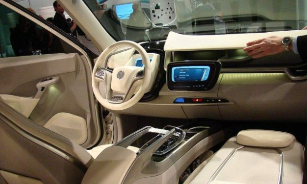 vehicle interior with johnson controls in car
