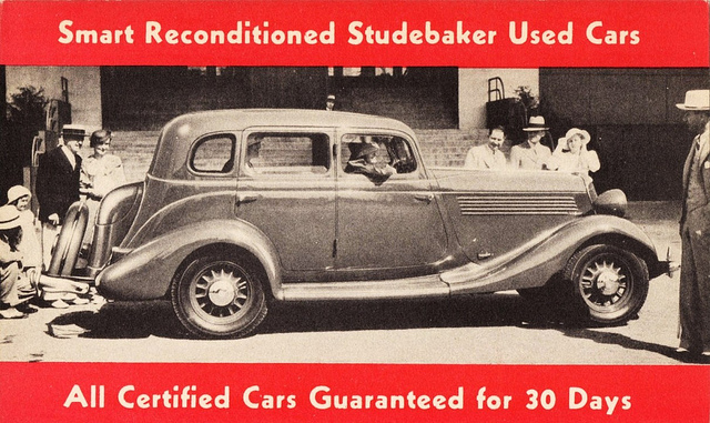1934 Studebaker Sedan advertisement