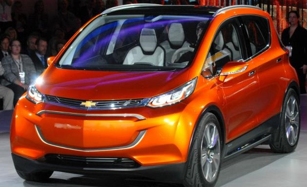 orange chevy bolt concept