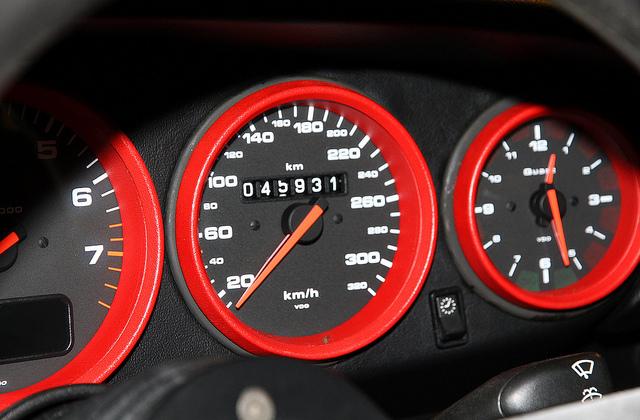 1996 Porsche 911 993 GT2 odometer