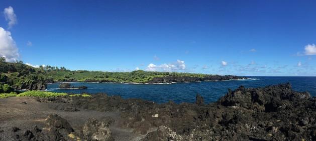 Wai'anapanapa State Park volcano beach