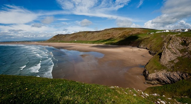 Rhossili Bay in Swansea