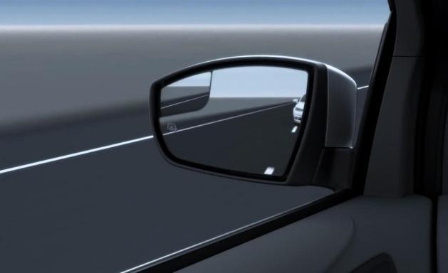 side mirror in car