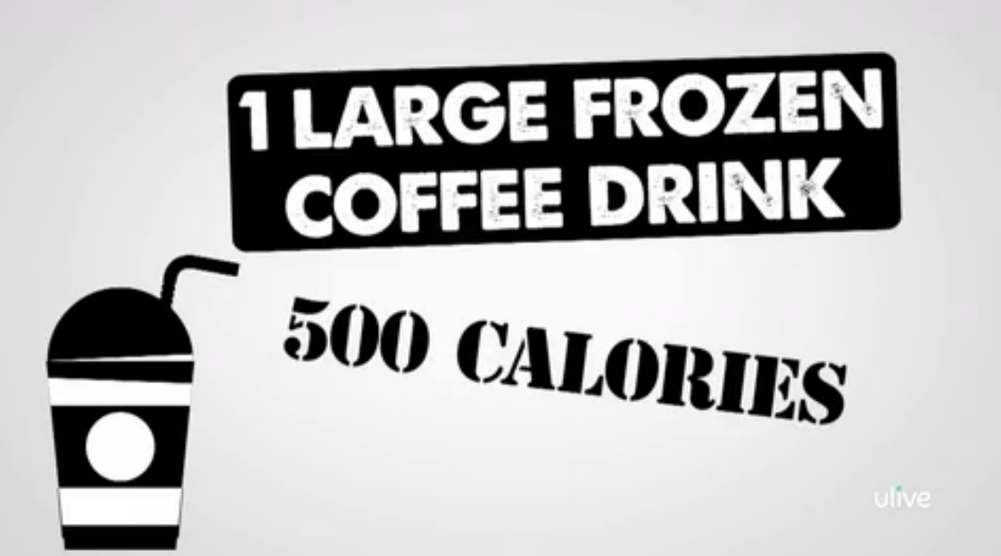 frozen coffee calorie count