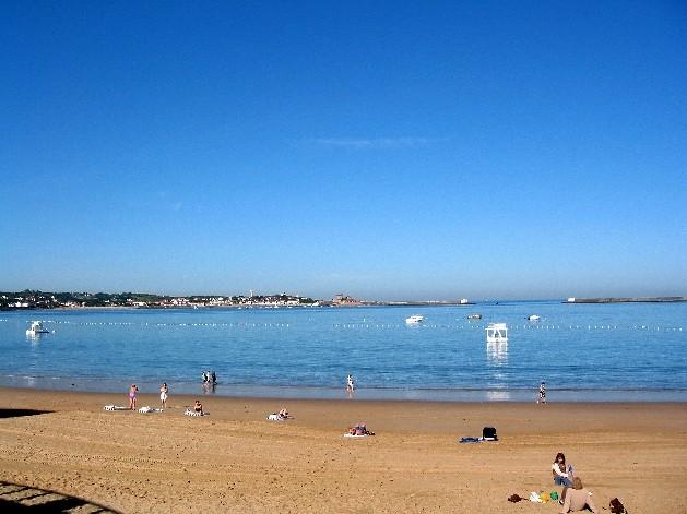 saint jean de luze plage beach with yellow sand