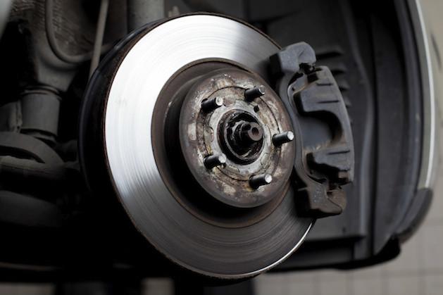 brakes installed on car