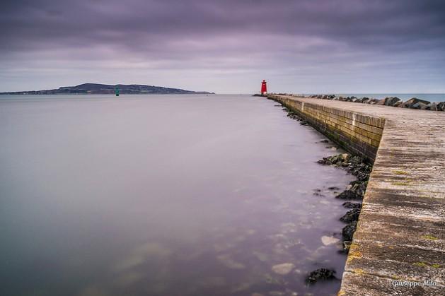 Poolbeg lighthouse, Dublin, Ireland