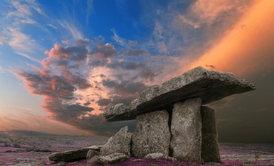 Poulnabrone Dolmen Sunset in Ireland