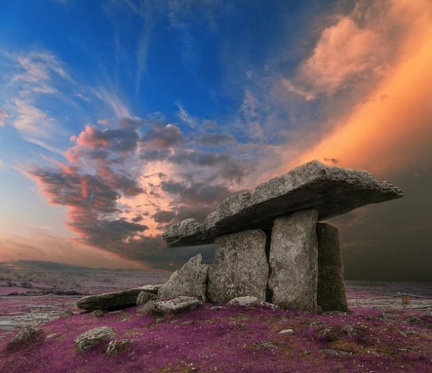 Poulnabrone Dolmen Sunset in Ireland