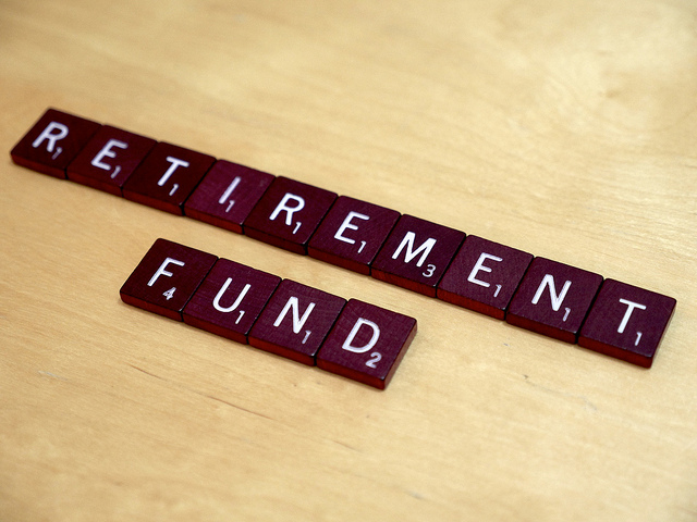 Retirement Fund spelled in scrabble tiles