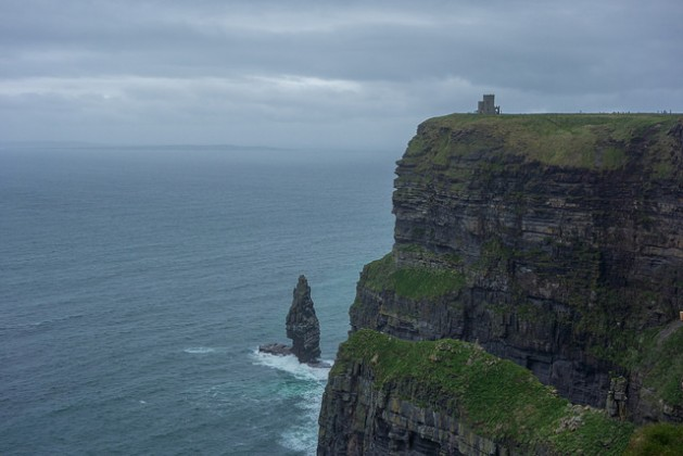 Cliffs of Moher with O'Brien's Tower