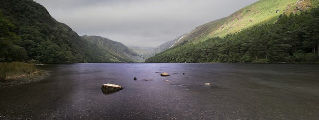 Upper Lake in the Wicklow Mountains in Glendalough, Ireland