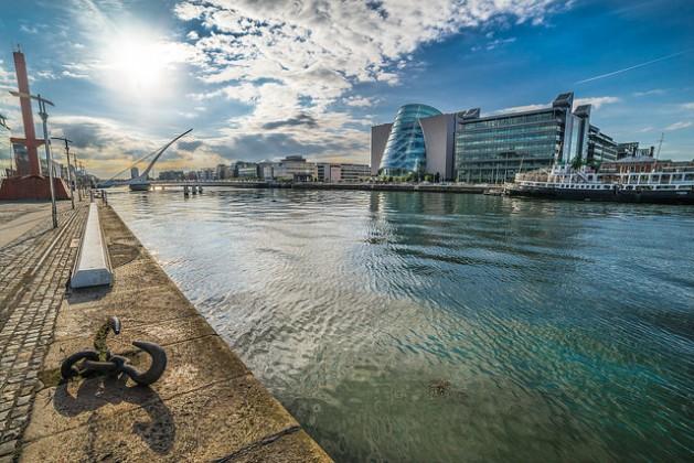 The Liffey river, Dublin, Ireland