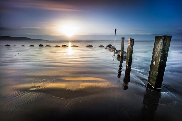 Sunrise in Bull Island, Dublin, Ireland