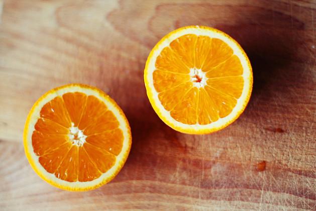 orange split in half