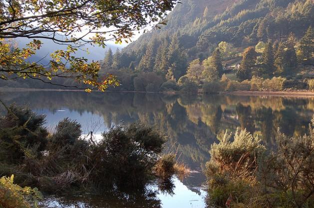 Lower Lake in Wicklow Mountains, Glendalough, Ireland