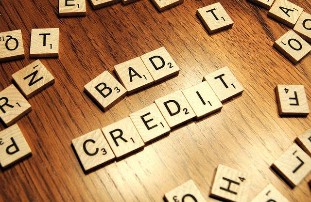 Bad Credit in scrabble tiles