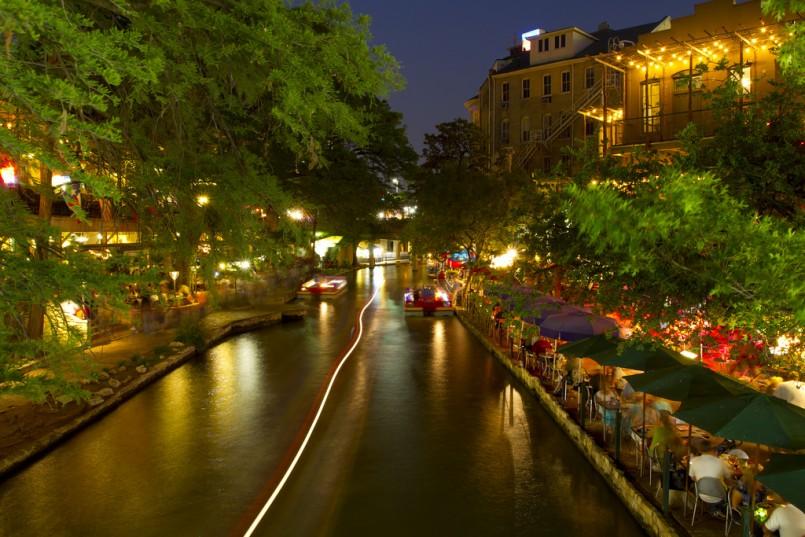San Antonio Riverwalk Evening
