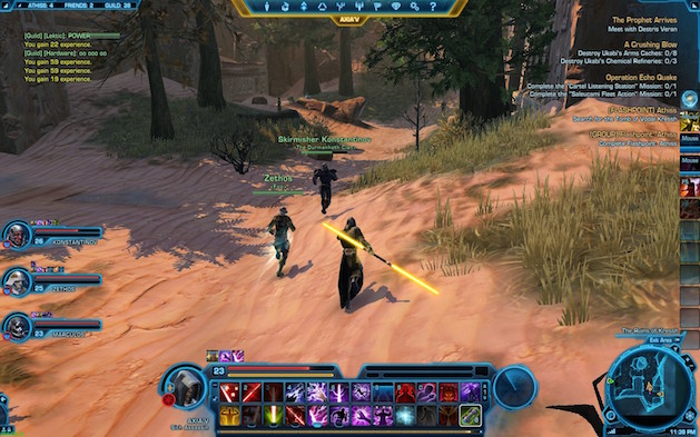 Star Wars- The Old Republic gameplay