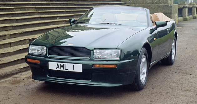 aston martin virage convertable in green