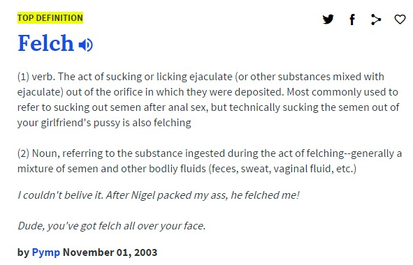 felch urban dictionary