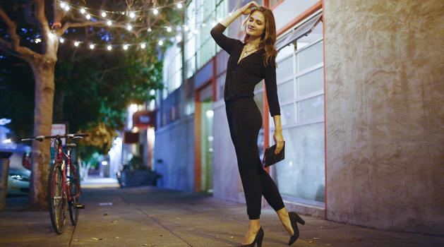 joyus black jumpsuit