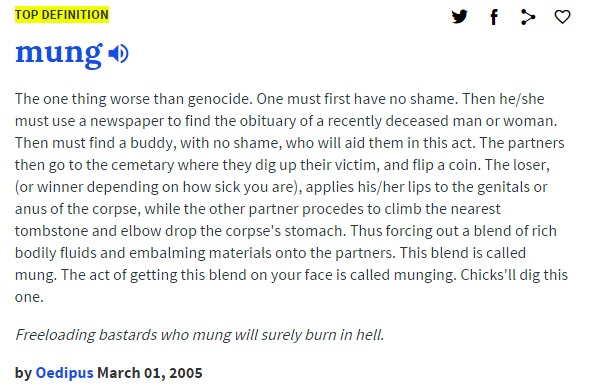 mung urban dictionary