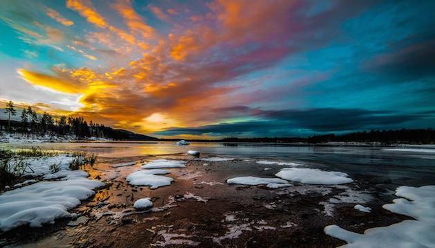 oslo shoreline at dusk