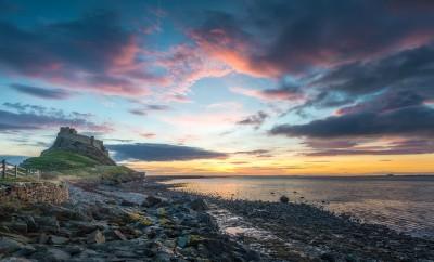 Holy Island Castle Sunrise